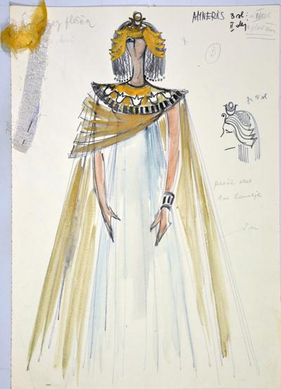 Giuseppe Verdi: Aida. Sketch 3