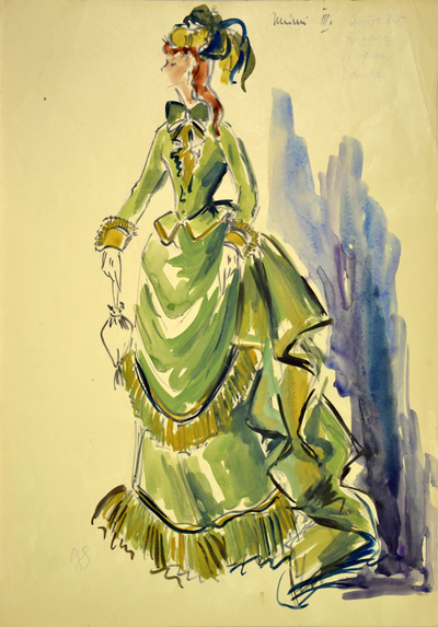 Giacomo Puccini: La Bohème. Sketch 1