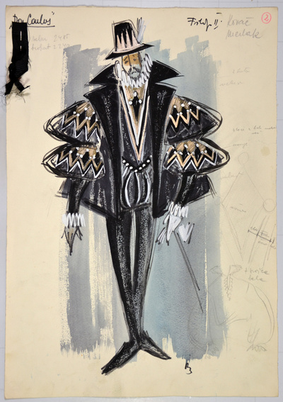 Giuseppe Verdi: Don Carlos. Sketch 7