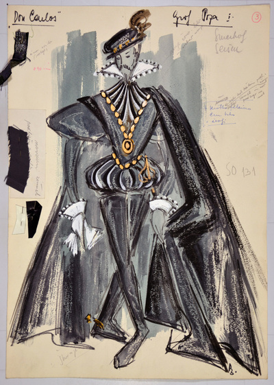 Giuseppe Verdi: Don Carlos. Sketch 8