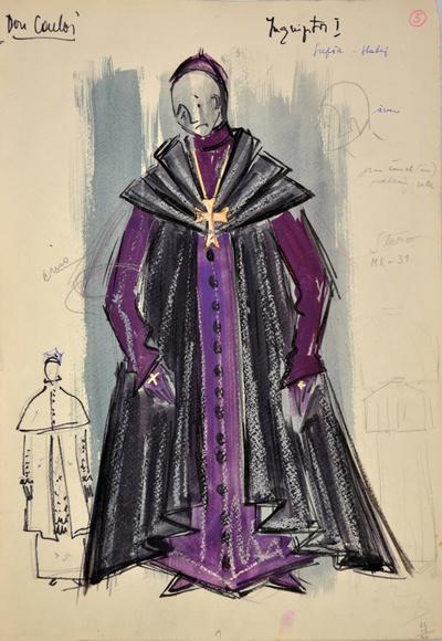 Giuseppe Verdi: Don Carlos. Sketch 9