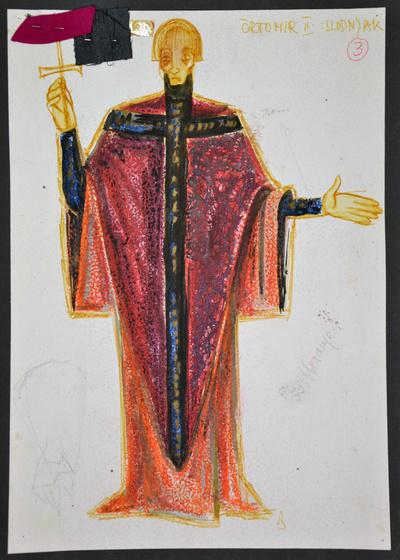 Dominik Smole: The Baptism at the Savica. Sketch 5