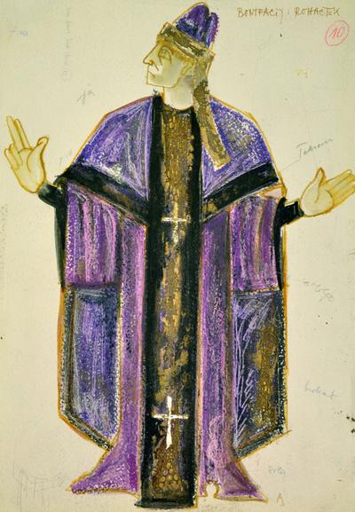 Dominik Smole: The Baptism at the Savica. Sketch 6