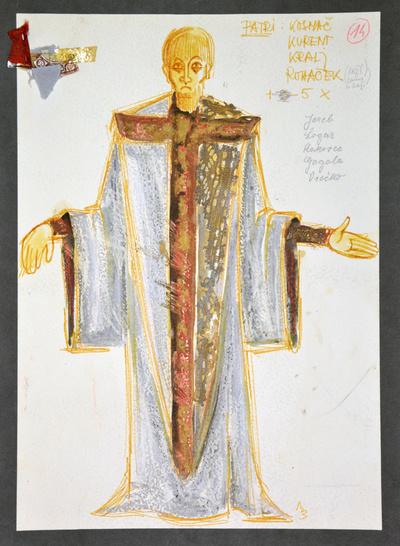 Dominik Smole: The Baptism at the Savica. Sketch 8
