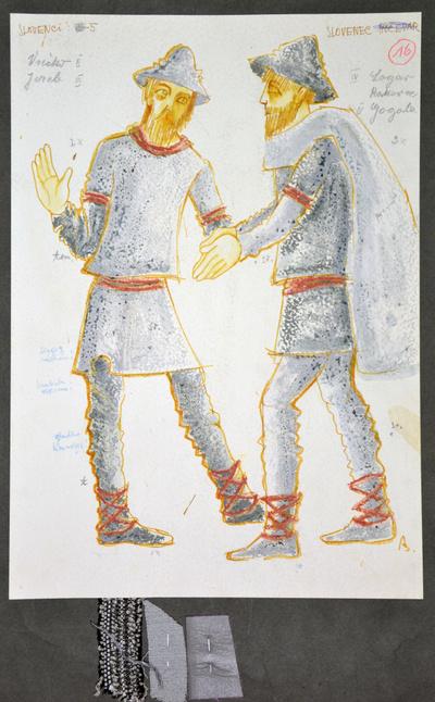 Dominik Smole: The Baptism at the Savica. Sketch 10