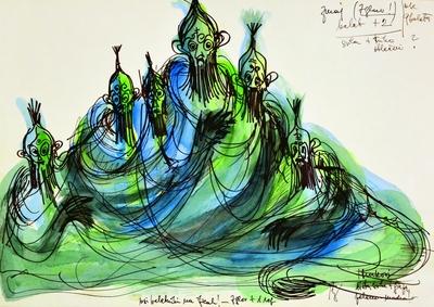 Jani Golob: Krpan's Mare. Sketch 3