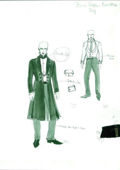 Nevihta, MGL, 2011. Kostumska skica 1