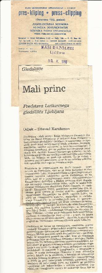 Mali princ: Predstava Lutkovnega gledališča Ljubljana