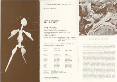 Gledališki list, Mali princ 1979