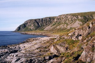 Fjellpartiet på Løvsøya med Goaldet