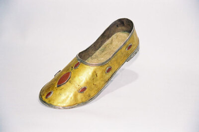 Uzbek Tribe-ladies bridal shoe.