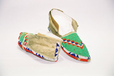 Crow Indian Tribe-ladies moccasins.