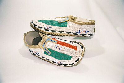 Sioux Indian large moccasins.