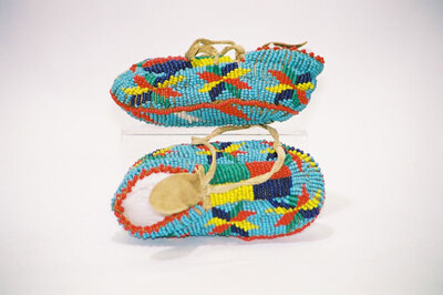 Sioux Indian baby moccasins.