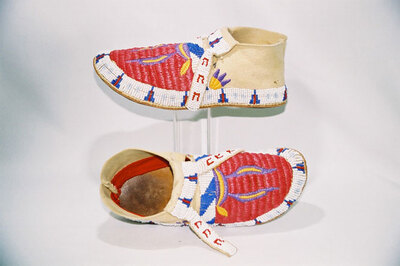 Lakota Sioux Indian moccasins.