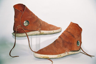 Pueblo Indian Tribe-men's boots.