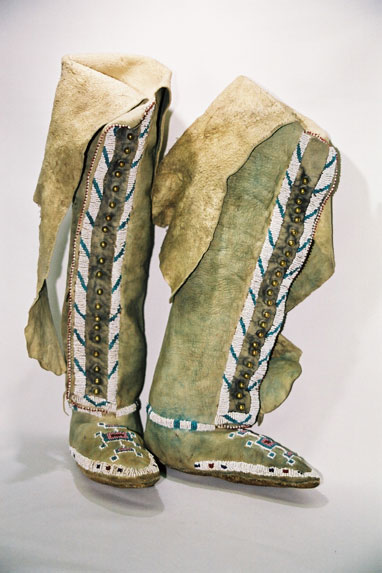Kiowa Indian Tribe-ladies 'Squaw' high top boots.