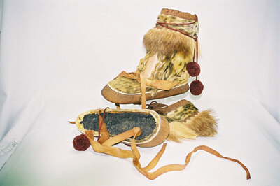 Inupiat Tribe-ladies boots.