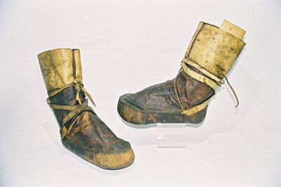 Yuit Tribe-child's boots 'Mukluks'.