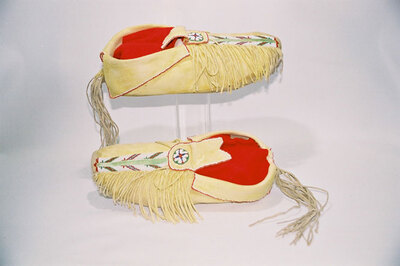 Comanche Indian dusters moccasins.