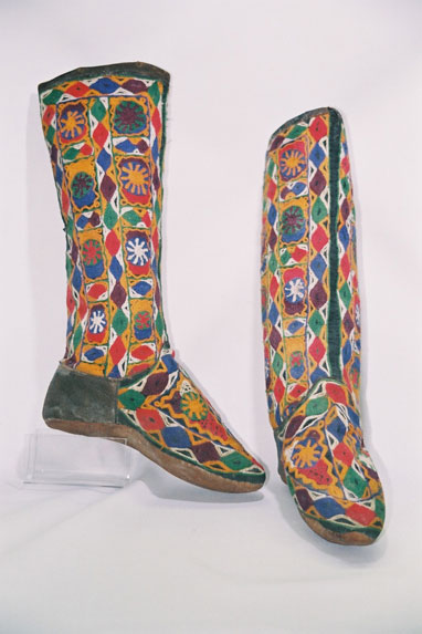 Uzbek Tribe-women's boot stocking; 'Magshi' ; to be worn in overshoes.