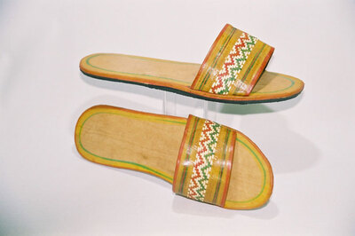 Ndebele Tribe-woman's slippers.