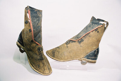 Man's button boot - Bedou?n tribe.