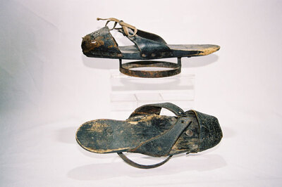 Ladies overshoes - 'pattens'.