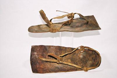 Masaai tribe men's sandals.