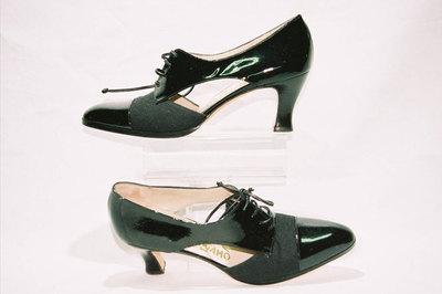 Ladies shoes by Ferragamo company.