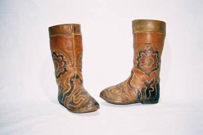 Tatar tribe child's boots.