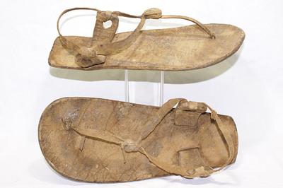 Mursi tribe men's sandals.