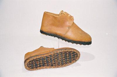 Grape-crusher shoes.