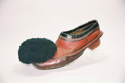 Royal palace guard 'Evzonen' shoe; 'Tsarouhi', Opanke style.