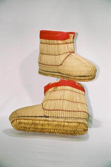 Men's snow boots; 'Fukagutsu'.