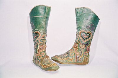 Tatar Tribe-ladies boot stocking 'Magshi' to be worn in overshoes.