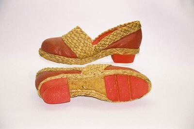World War II makeshift ladies shoes.