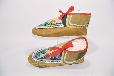 Iriquois Indian tribe-men's moccasins.