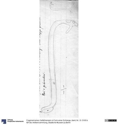 Fragment eines Gefäßhenkels in Form einer Schlange