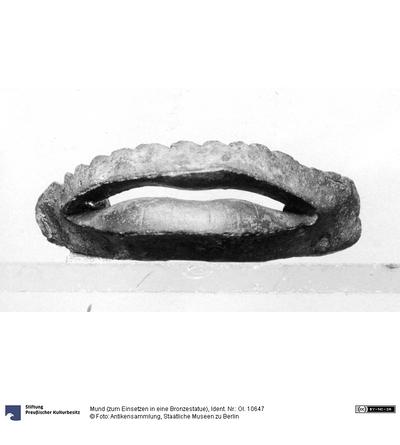 Mund (zum Einsetzen in eine Bronzestatue)