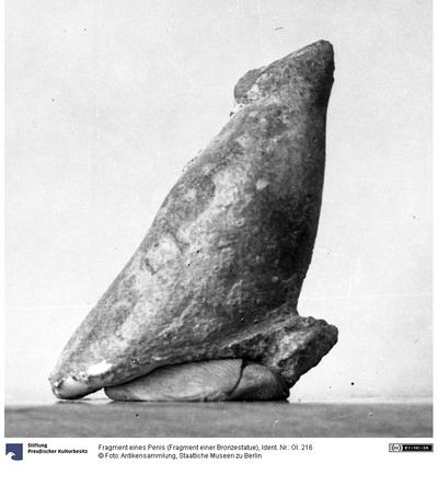Fragment eines Penis (Fragment einer Bronzestatue)