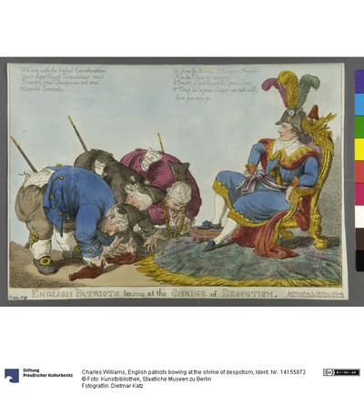 English patriots bowing at the shrine of despotism