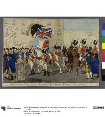 The grand triumphal entry of the chief consul into London