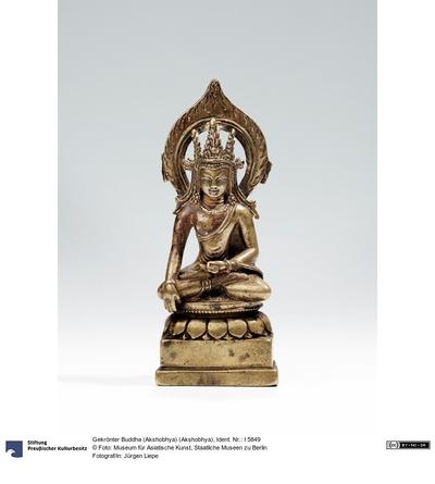 Gekrönter Buddha (Akshobhya) (Akṣhobhya)