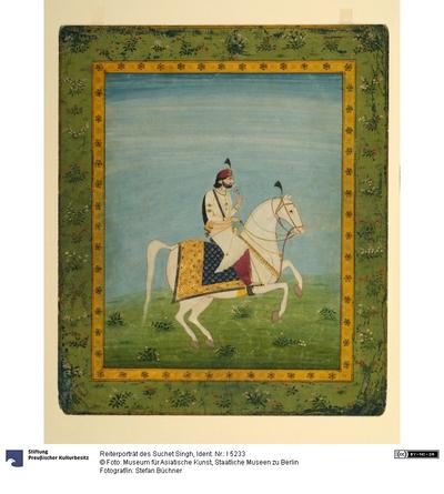 Reiterporträt des Suchet Singh