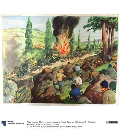 71 Le maquis, 72 La reconstruction de la France; Tableaux D'Histoire C E - Collection Rossignol