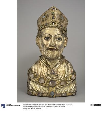 Büstenreliquiar des hl. Blasius aus dem Welfenschatz