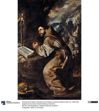 Der Heilige Franziskus betend