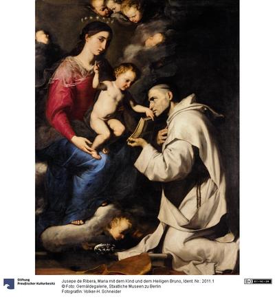 Maria mit dem Kind und dem Heiligen Bruno