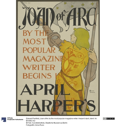 Joan of Arc by the most popular magazine writer. Harper's April
